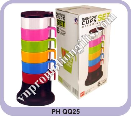 SET OF 6 CUPS - MELAMIN
